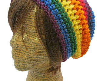 Rainbow Slouch Beanie Slouchy Rainbow Beanie Mens Women Pride Pastel Bright