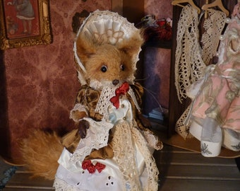 Lady Ginger, handmade squirrel OOAK ART