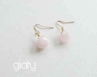 Light pink earrings - small earrings, everyday earrings, simple earrings, bff earrings, charm earrings, Mother's Day Gift
