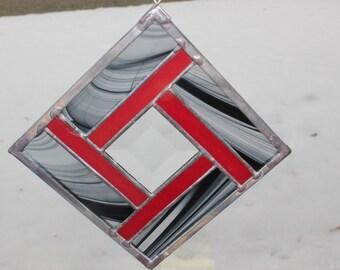 Black and Red Pinwheel