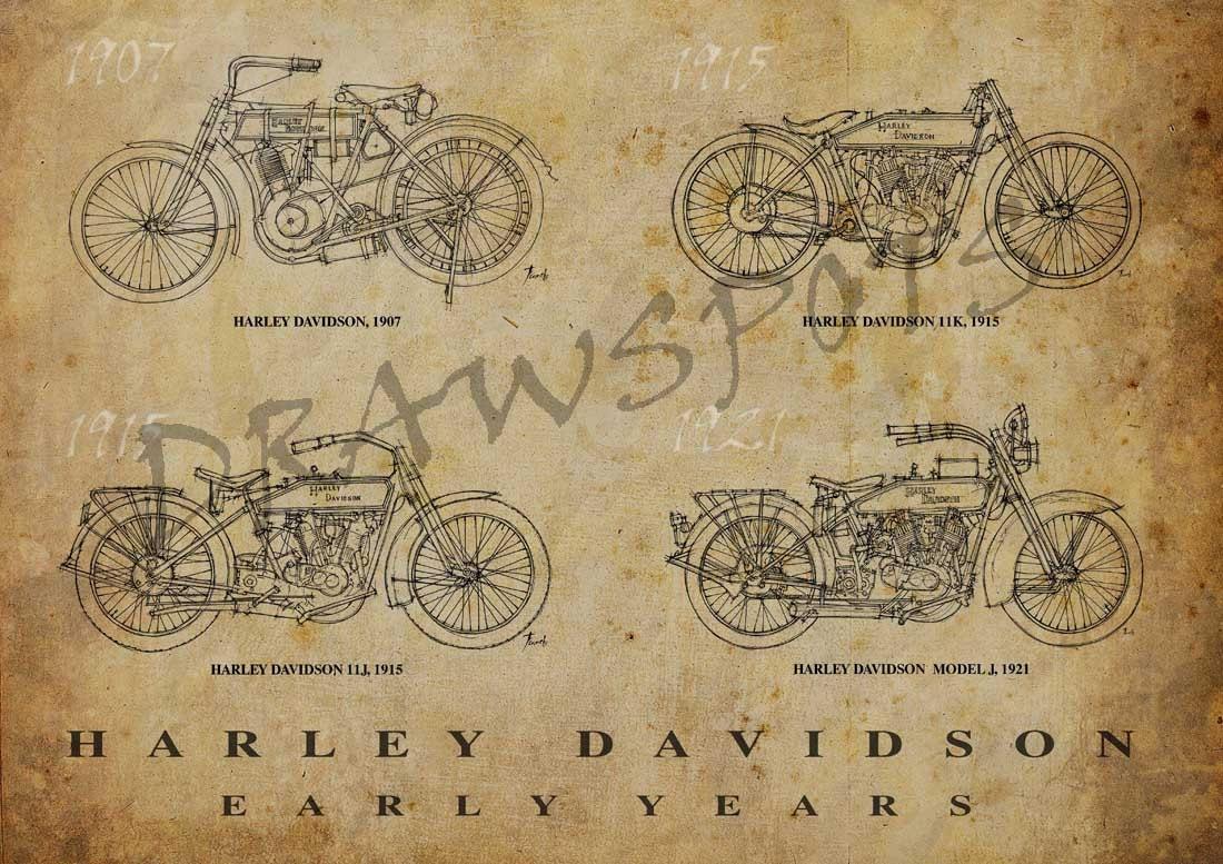 HARLEY DAVIDSON Early Years Based on my Original Handmade