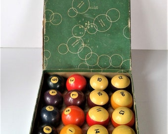 Vintage Aramith Made in Belgium Billiard Ball Set - Boxed
