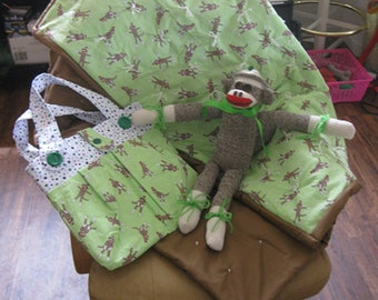 Green Sock Monkey Set