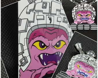 "Techno-Krang 1.5"" Soft Enamel Pin LIMITED EDITIONS"