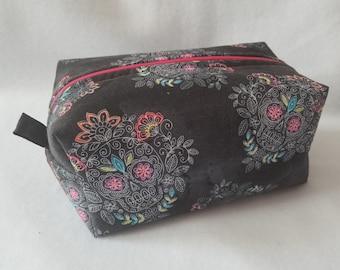 Pink Sugar Skulls Box Zipper Pouch