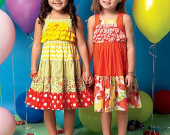 McCall's M7144 Size 1-3 Children's Girl's Pullover Sundresses Sewing Pattern  / UNCUT Factory Folded
