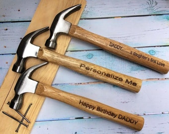 Set Of 7 Engraved Hammers with Custom Message/16 oz. Hammer