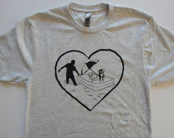 Men's/Unisex RESCUE Tri-blend t-shirt, Size XS-XXL, 50% of the proceeds will be donated to animal rescue organizations