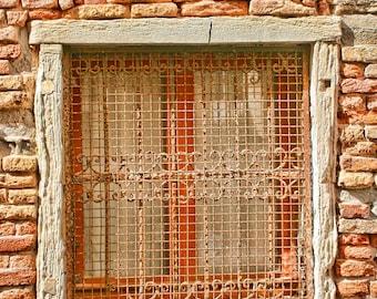 If Walls Could Talk  II. - Fine art photography - Venice - sacred history  - Shakespeare - windowscape, stone, terracotta