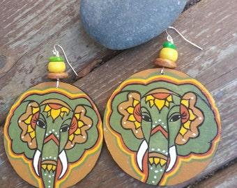 Chanda böhmischen Hand Painted Ohrringe