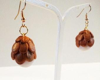 Gold Dragon egg earrings