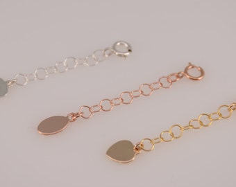 Extension chain. Add-on sterling silver chain. 14K gold filled extension chain. 14K rose gold filled extension chain
