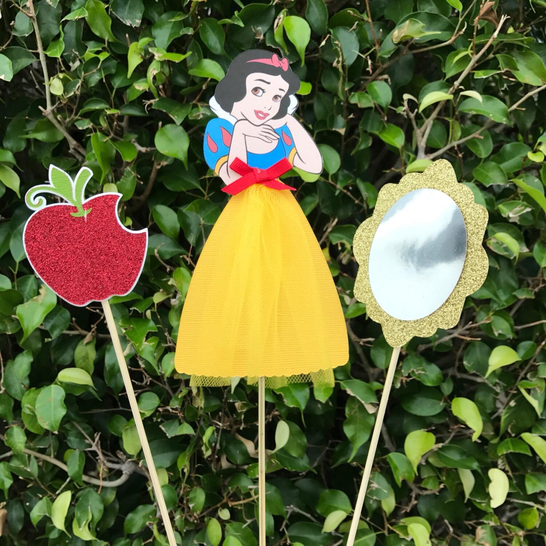 Snow White Birthday Decor Snow White Centerpieces Disney