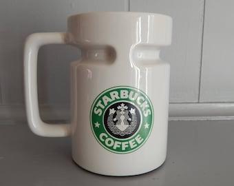 1980s Starbucks Travel Mug Siren with Bellybutton Logo