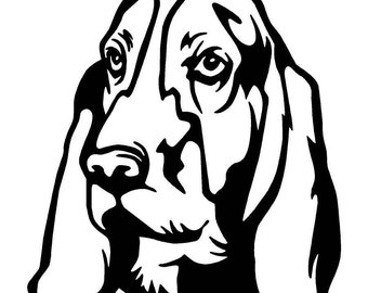 Basset Hound Car Decal