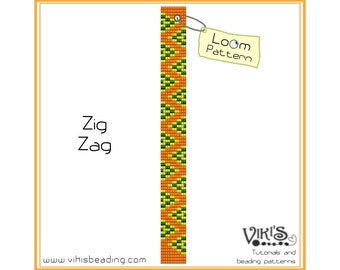 Loom Bracelet Pattern: Zig Zag - INSTANT DOWNLOAD pdf -Discount codes are available
