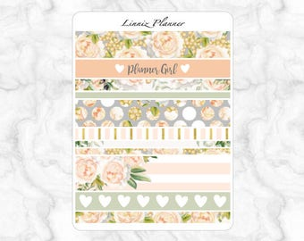 Champagne Bloom Washi (matte planner stickers, Filofax, Kikki K, Websters Pages, Color Crush)