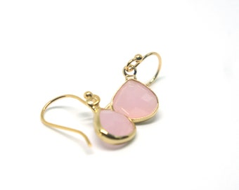 Tiny Rhinestone Teardrops Faux Gemstone Bridesmaid Jewelry - 14 Colors