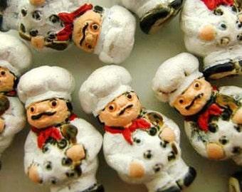 20 Tiny Chef Beads
