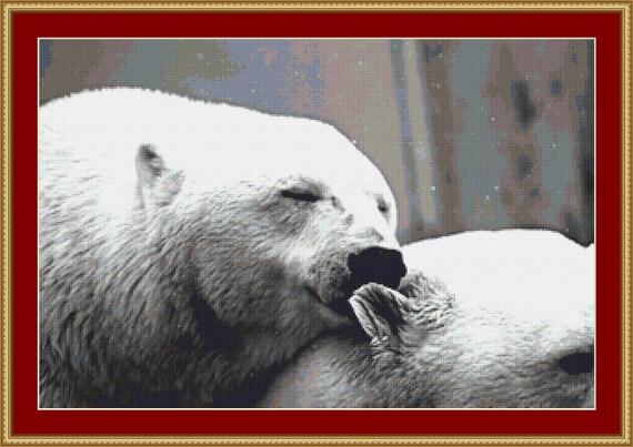 Polar Bears Cross Stitch Pattern /Digital PDF Files /Instant downloadable