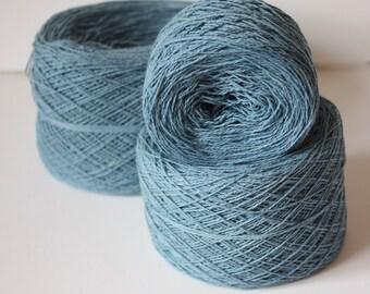 100% Hemp Yarn - Natural Dye - Col: 015 Indigo Super Light