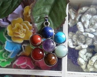 1 pendant with bezel gemstone, mixed, 46 zinc alloy ~ 70 x 25 ~ 58 x 4 ~ 8 mm, hole: 7 x 4 mm