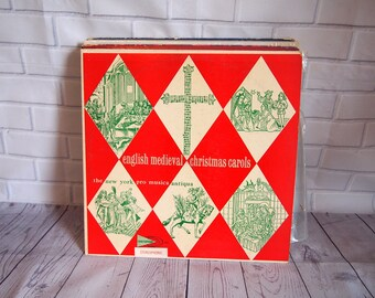 English Medieval Christmas Carols Vinyl Record (1962)