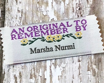20 Sew on Clothing Labels Professional Fabric Labels An Original to Remember By imprinted with 1 line of text