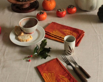 double wings orange batik napkins
