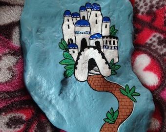 Venice Village Hand Painted River Rock