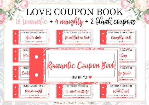 Love vouchers for boyfriend
