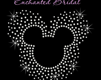 Disney Inspired Scatter Mickey Iron On Rhinestone Transfer DIY Bling Disney Birthday Disney Wedding Disney Park Iron On Child Or Adult Size