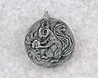Green Girl Studios Squirrel Pendant