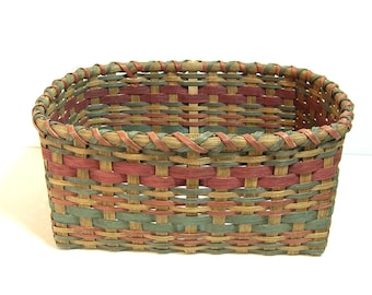 Vintage Hand Made Split Oak Basket