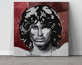 Jim Morrison, The Doors, Rock and Roll, Music Art, Wall Art, Large Wall Art, Affordable Wall Art, Pop Art, WPAP Art, Iconic Art, Gift