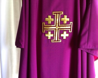 Purple Chasuble Set