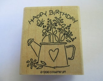 "Rubber Stamp ""Birthday stamp"" stamp For cards and scrapbooking  slightly used good condition"