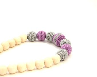 Aurora Crochet Necklace - Nursing Necklace, Teething Necklace, Babywearing, Breastfeeding jewelry