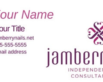 Jamberry cards etsy jamberry nails business card jamberry printed business card jambery business cards jamberry reheart Choice Image