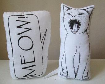 cat soft toys cute funny stuffed animals plushies meow gift idea for baby shower nursery decor room decor