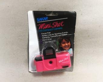 Toy Camera Compact// Hot Pink Mini Shot // 110 Film Camera // New In Box