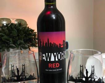 New York Unbreakable Wine Glass