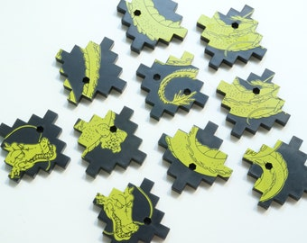 Dragon tiles (set of 10)