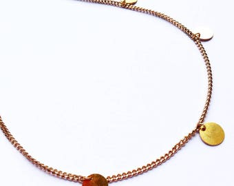 Choker necklace plated gold 18 k hypoallergenic.