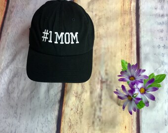 1 Mom Baseball Hat | #1 Mom Baseball Cap, Mom Dad Hat, Gift for Wife,Best Mom Hat, Mom Gift for mom, Best Mom Hat, Mothers Day Gift, Mom Hat