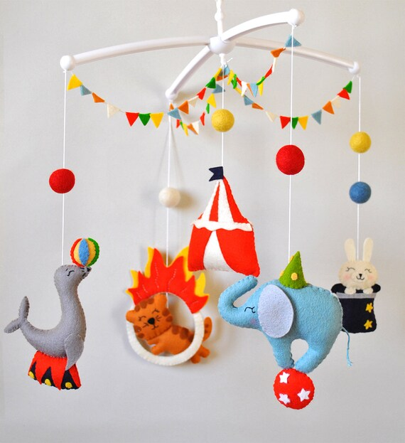 Baby Mobile Circus Animals Cot Mobile Elephant Mobile Boy Girl