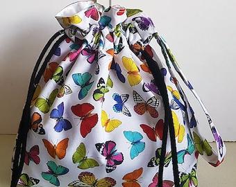 Small drawstring project bag