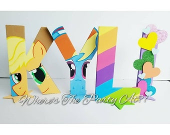 My Little Pony Inspired Name Letters/My Little Pony Party Decorations