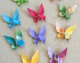 Papillons en origami - Tie Die