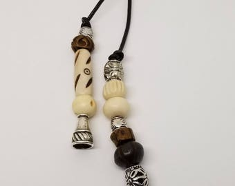 Bone bead jewelry/choker necklace/Lariat necklace/boho lariat/Tribal necklace/ Indonesian style jewelry/ leather jewelry/leather choker